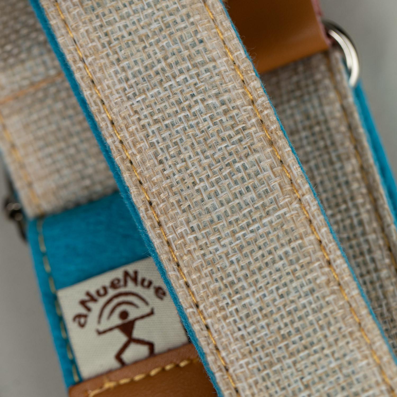 aNueNue Bird Skinny Strap (Natural Linen/ Blue)
