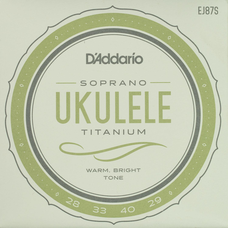 D'Addario EJ87S Titanium Soprano String Set