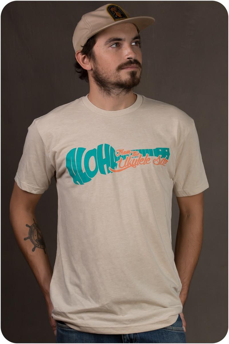 The Ukulele Site T-Shirt - Aloha Tan