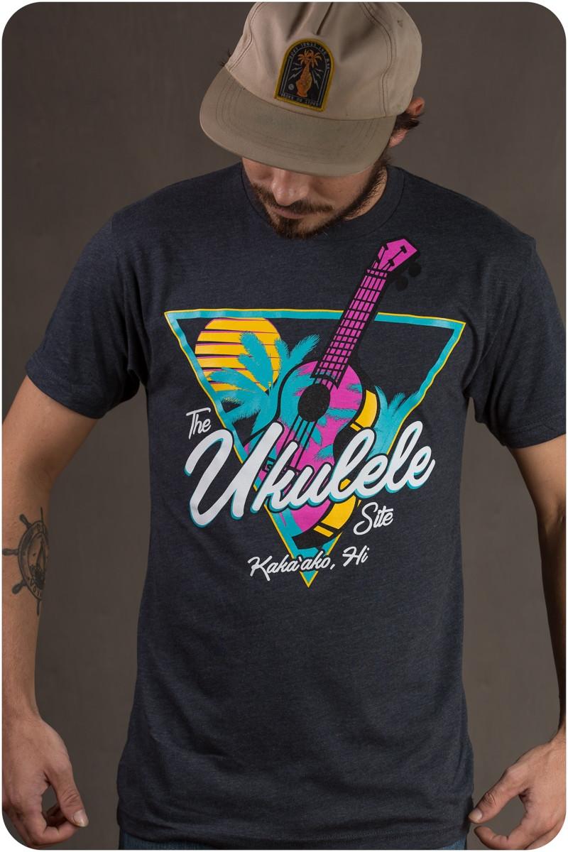 The Ukulele Site T-Shirt - Neon Charcoal