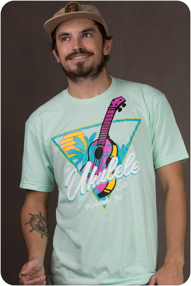 The Ukulele Site T-Shirt - Neon Seafoam