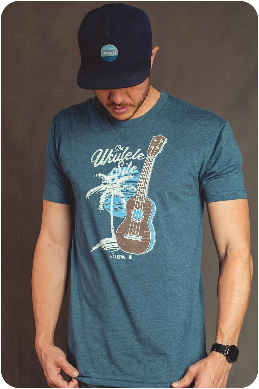The Ukulele Site T-Shirt - Sunset Blue
