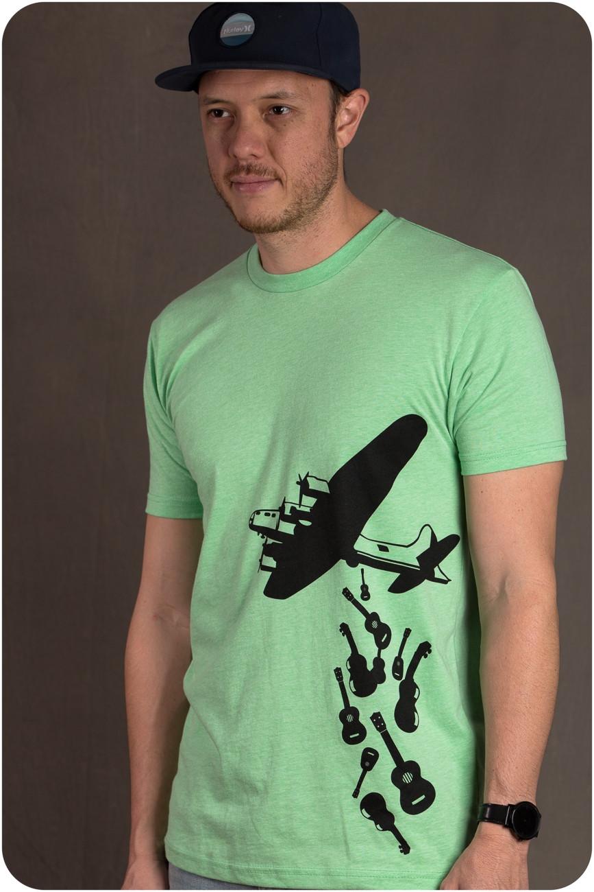 The Ukulele Site T-Shirt - Bomber Green