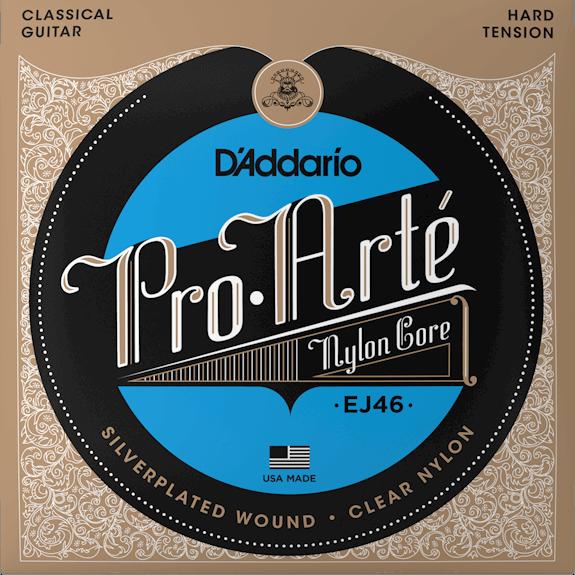 D'Addario EJ46 Pro-Arte Clear Nylon Classical Guitar Strings Hard Tension