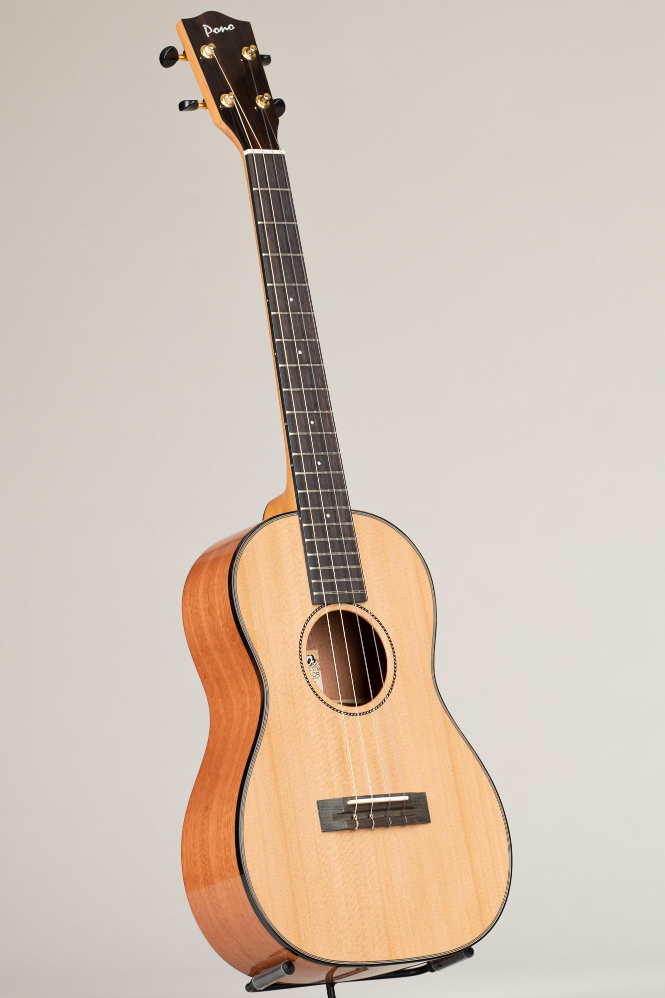Pono Deluxe Cedar /Mahogany Baritone (MBD-CR 4714)