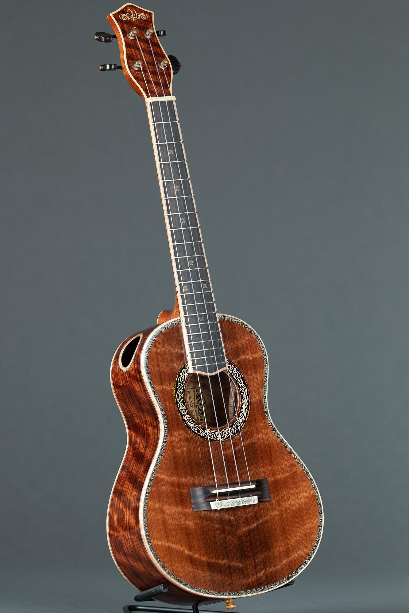 Petros Custom Tenor Ukulele (Curly Sinker Redwood/ Bubinga #64)