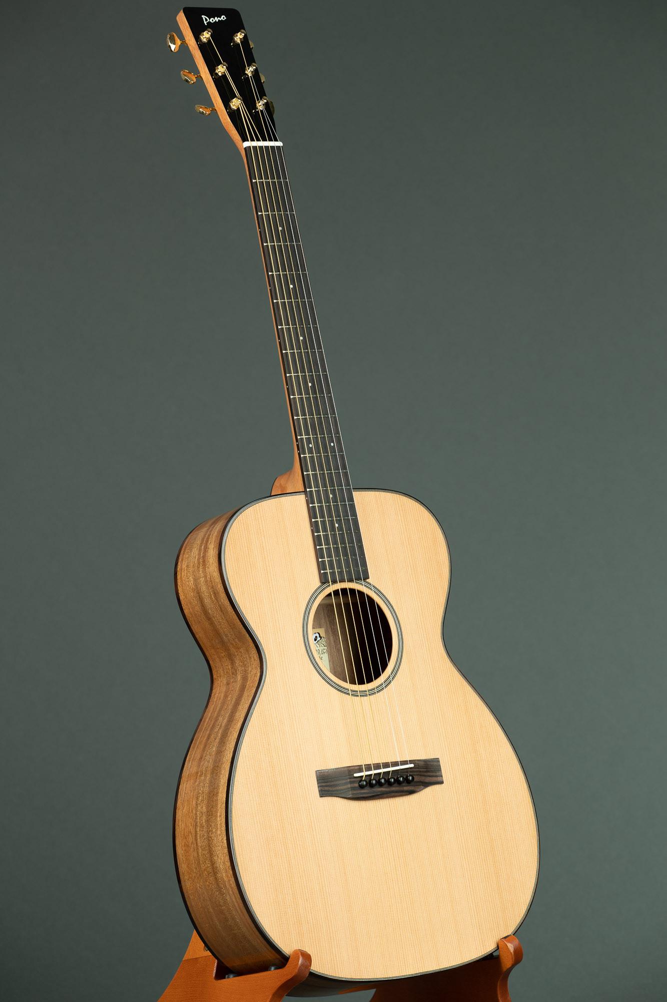 Pono Cedar Top Acacia OM Steel String Guitar (OM-10C 3390)