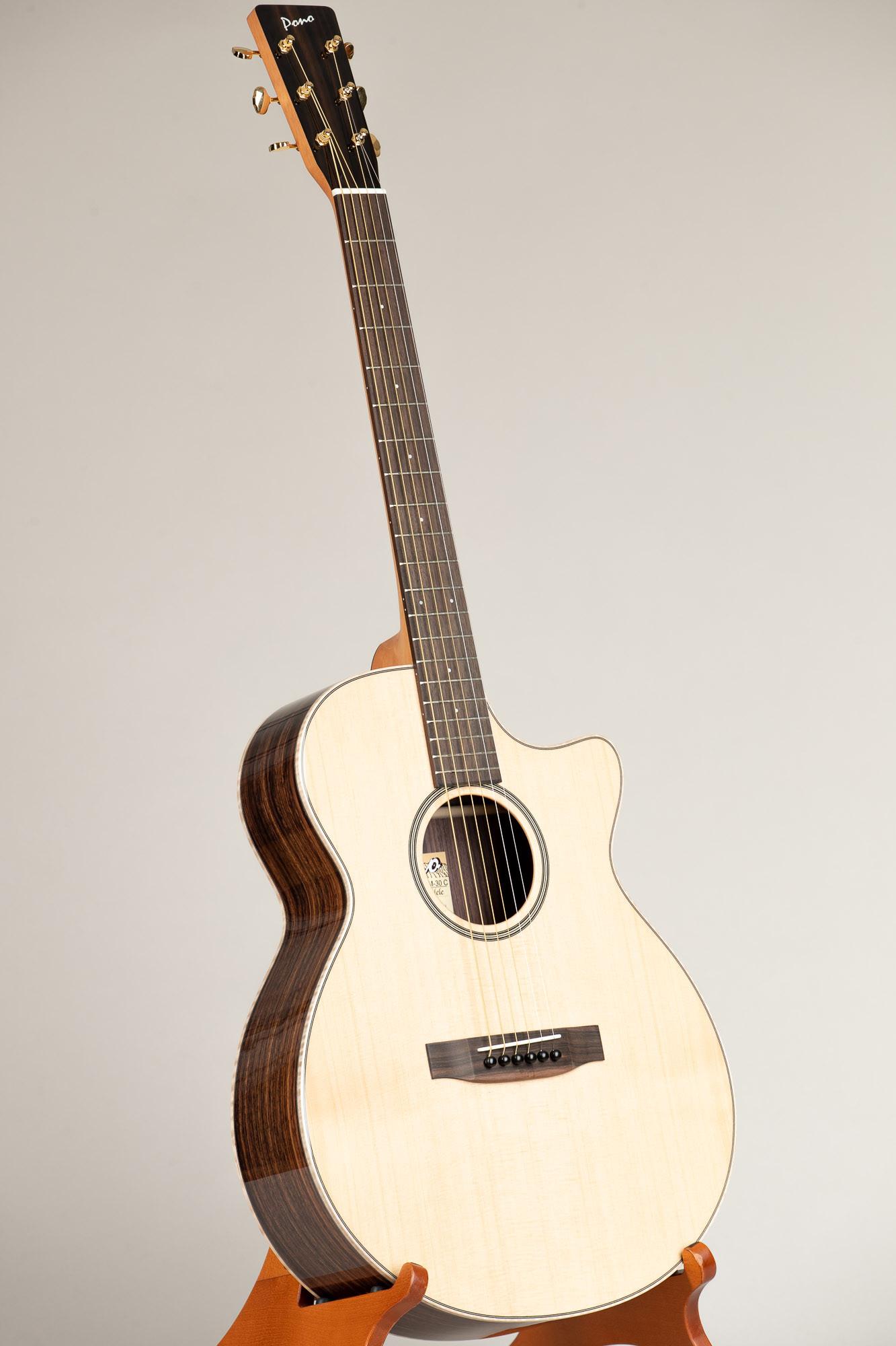 Pono Spruce Top Rosewood OM Cutaway Steel String Guitar (OM-30C(S) 4858)