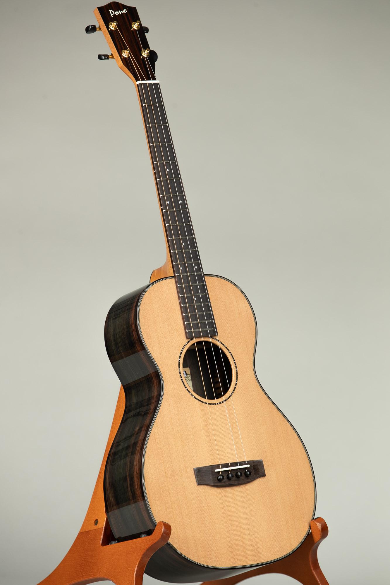 Pono Cedar Rosewood Steel String Baritone (UL4-4 3037)