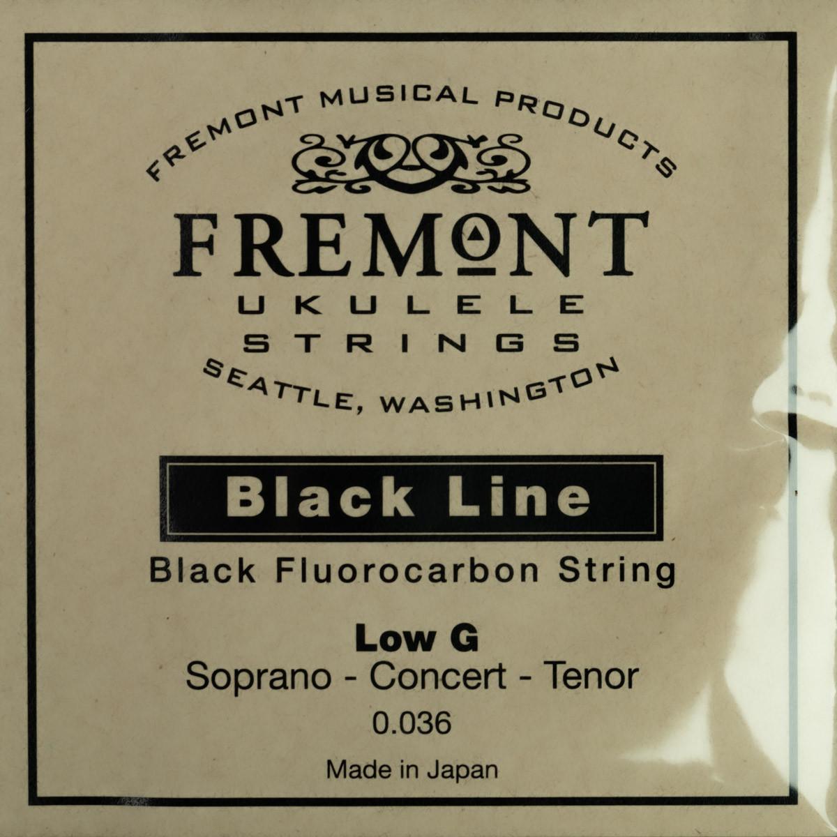 Fremont Black Line Fluorocarbon Low G Ukulele String