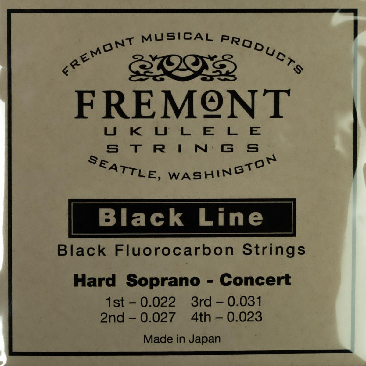 Fremont Ukulele Strings - Blackline-Soprano/Concert (Med or Hard Tension)