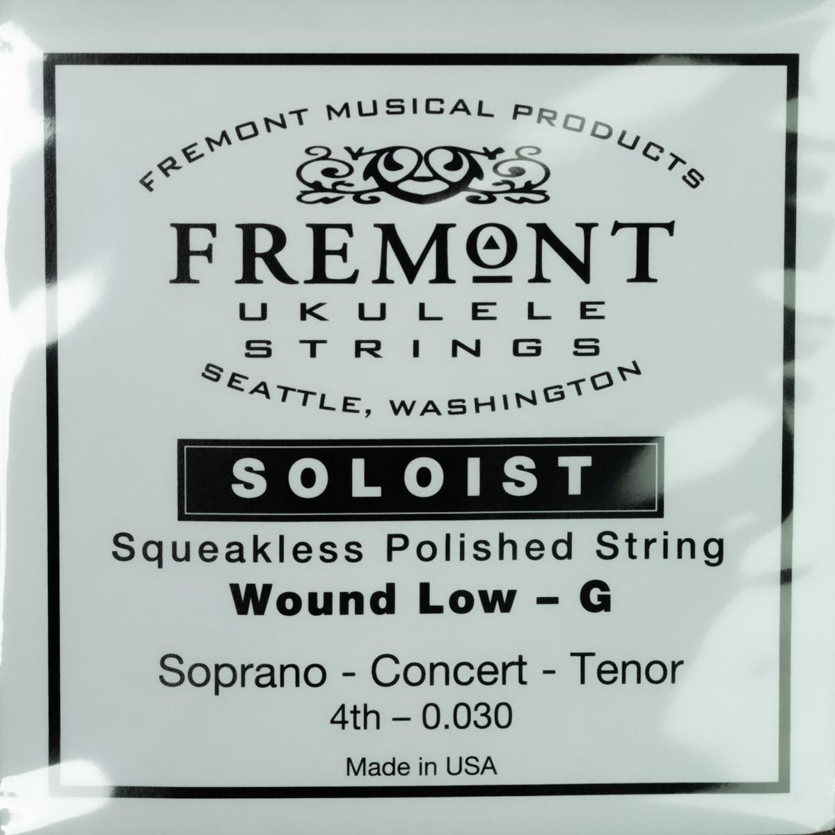 """Fremont """"Soloist"""" Polished Low G Ukulele String"""