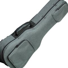 Oahu Fabric (Gray) Hardshell Gig Case - Baritone