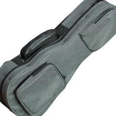 Oahu Fabric (Gray) Hardshell Gig Case - Soprano